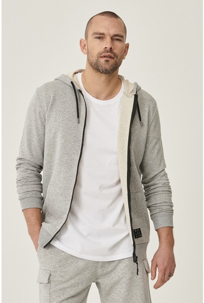AC&Co Altınyıldız Classics Slim Fit Günlük Rahat Fermuarlı Spor Sweatshirt