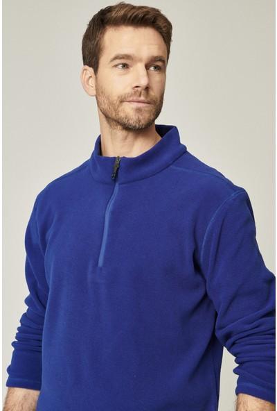 Altınyıldız Classics Standart Fit Günlük Rahat Fermuarlı Bato Yaka Spor Polar Sweatshirt