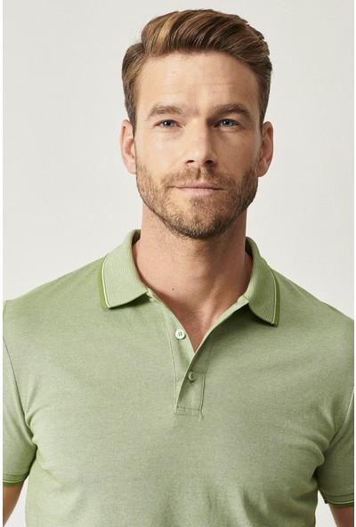 Altınyıldız Classics Düğmeli Polo Yaka Cepsiz Slim Fit Dar Kesim Düz Tişört