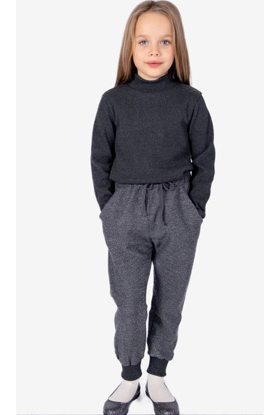 Ozmoz Kız Çocuk Dar Paça Gri Sportif Pantolon