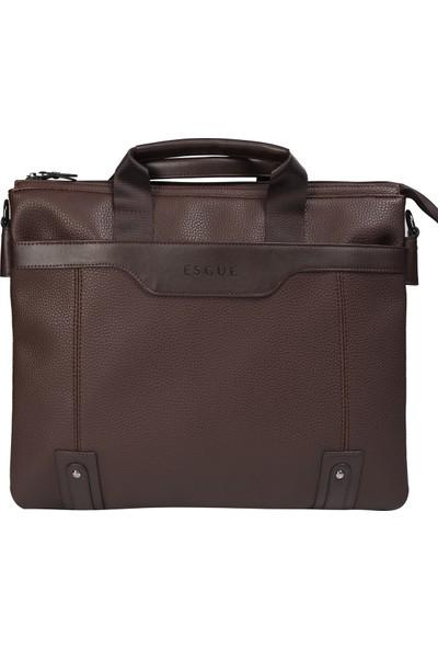 Esgue Kahverengi Erkek Evrak ve Laptop Çanta
