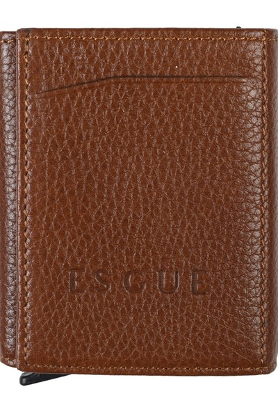 Esgue Miniwallet Kahverengi Deri Cüzdan Kartlık