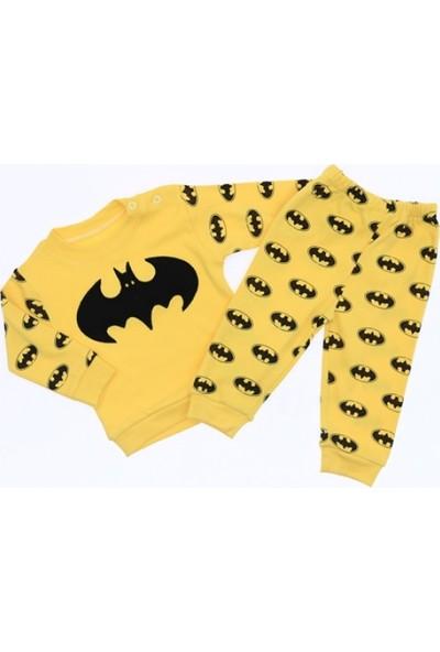 Mini Kalpler Mini Kalpler Baby Batmen Figürlü 9-18 Ay Arası 2'li Pijama Takımı