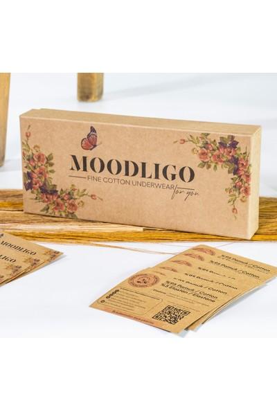 Moodligo Fine Cotton Kadın Basic Slip Külot-6'lı Kutu 2 Siyah 2 Beyaz 2 Ten