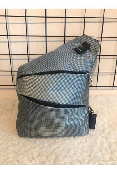 Cross Bag Gizli Gözlü Çanta Gri