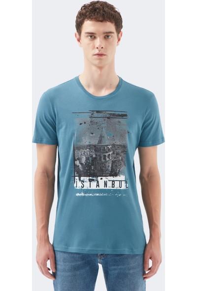 Mavi Erkek Mavi İstanbul Tişört 065002-25753