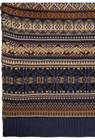 Mavi Erkek Jakarlı Lacivert Atkı 091059-29764
