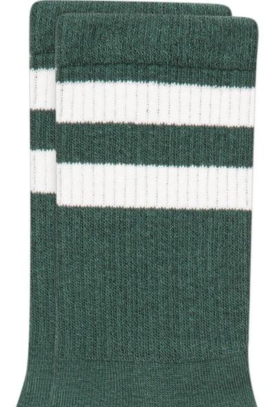 Mavi Erkek Bileği Çizgili Yeşil Çorap 092032-30715