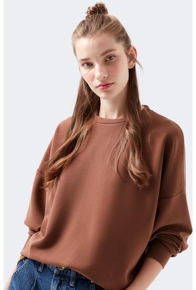 Mavi Kadın Kahverengi Modal Sweatshirt 168837-29718