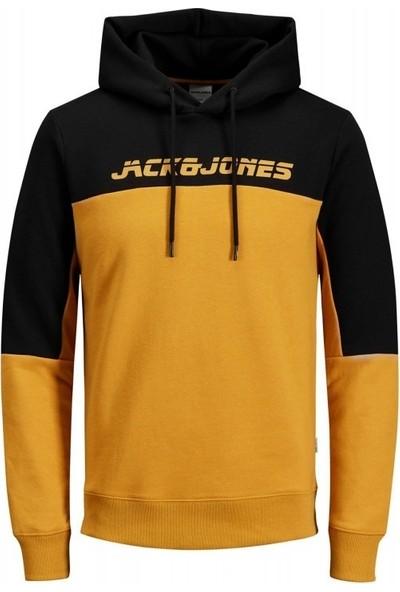 Jack & Jones Erkek Sweatshirt - Turuncu