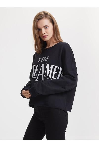 Loft Lf2019107 Kadın Sweat Shirt Black
