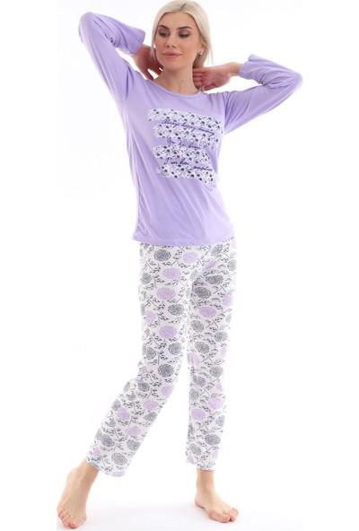 Kadın Lila Pijama Takımı