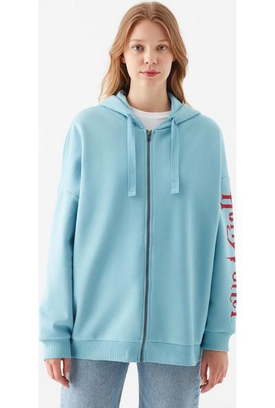 Mavi Kadın Harry Potter Baskılı Mavi Sweatshirt 1600797-33497