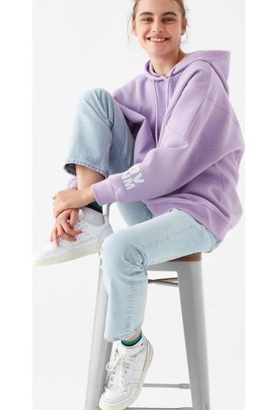Mavi Kadın Mavi Logo Baskılı Sweatshirt 1600481-33528