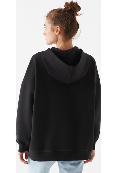 Mavi Kadın Mavi Baskılı Siyah Sweatshirt 1600544-900