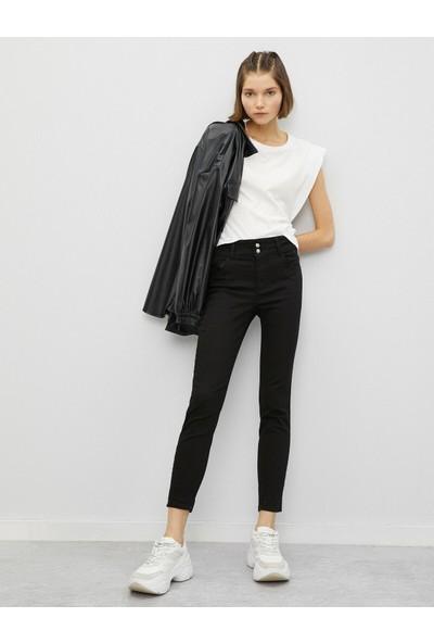 Koton Kadın Pamuklu Skinny Carmen Jean - Yüksek Bel Dar Kesim Dar Paça Pantolon