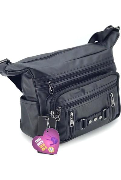 Mega Çanta Kadın Siyah Postacı Çanta
