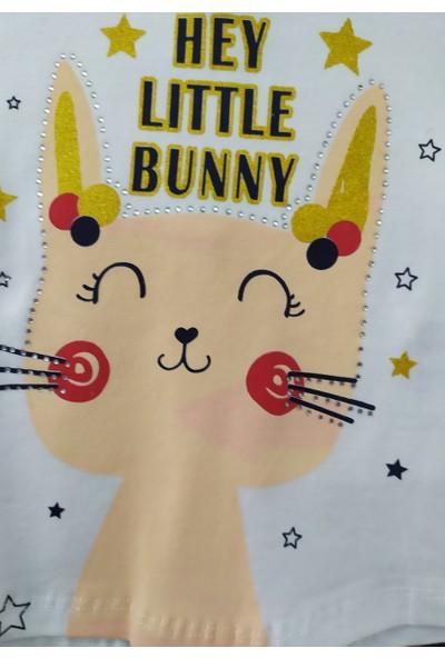Joyola Pırıltılı Taşlı Sevimli Tavşan Kız Bebek Tayt Takım