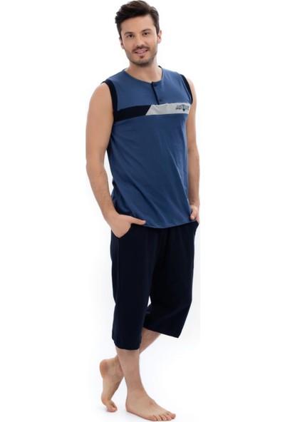 Çelebi 8415 Erkek Penye Kapri Pijama Takım