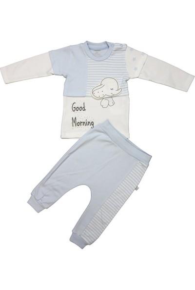 Monello Erkek Bebek Mavi Filli 2'li Pijama Takımı