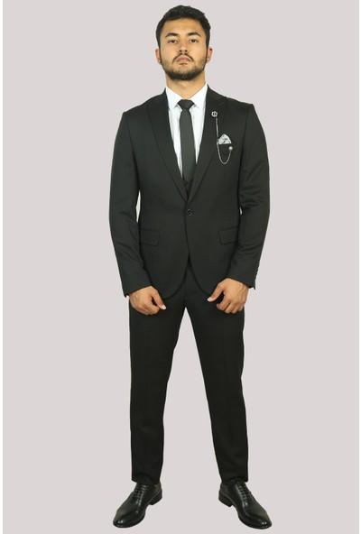Deri̇go Füme Erkek Yelekli Takım Elbise 6760308