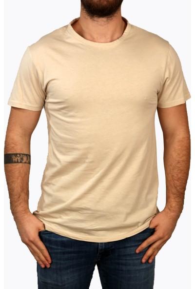 Deri̇go Bej Erkek Bisitlet Yaka T-Shirt 68503