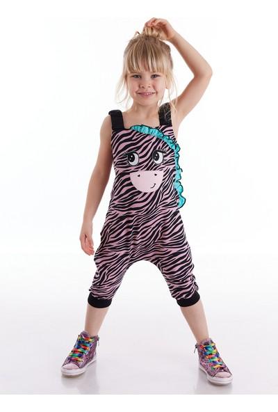 Denokids Zebra Fırfırlı Kız Tulum