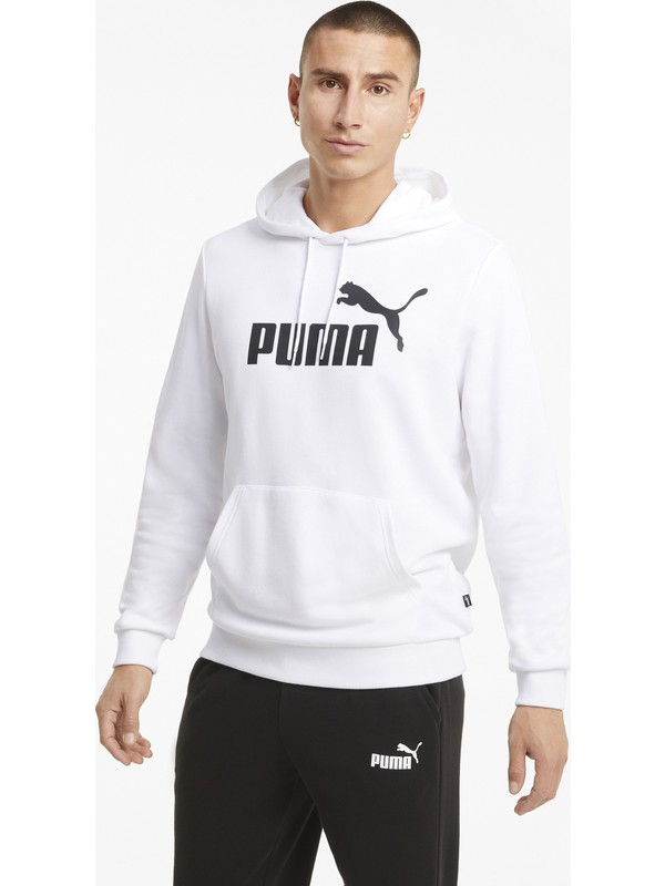 Puma Big Logo Erkek Sweatshirt Beyaz - 58668802