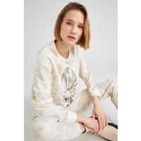 Defacto Batik Desenli Bugs Bunny Lisanslı Sweat Tunik U1037AZ21SP