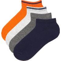 Penti Çok Renkli Erkek Çocuk Plain Stripe 4'lü Patik Çorap