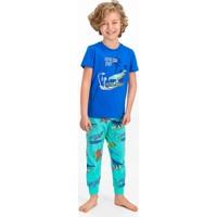 Rolypoly Surf Crocodile Cobalt Mavi Erkek Çocuk Kısa Kol Pijama Takımı