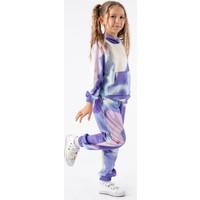 Minik Dolap Kız Çocuk Batik Desenli Kapüşonlu Eşofman Takım - Lila