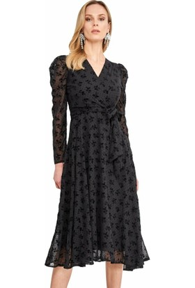Şamdan Kadın 3296 Siyah Elbise