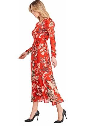 Şamdan Kadın 9111 Kırmızı Elbise