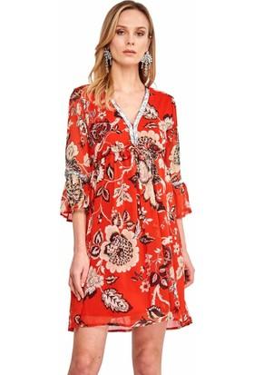 Şamdan Kadın 3303 Kırmızı Elbise