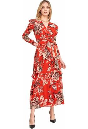 Şamdan Kadın 3299 Kırmızı Elbise
