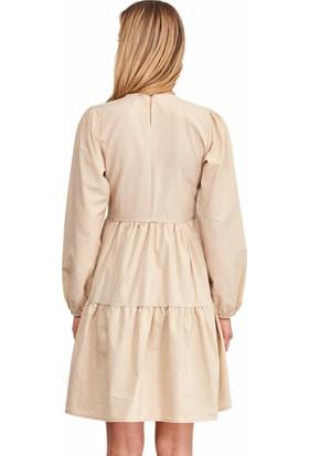 Şamdan Kadın 3318 Bej Elbise