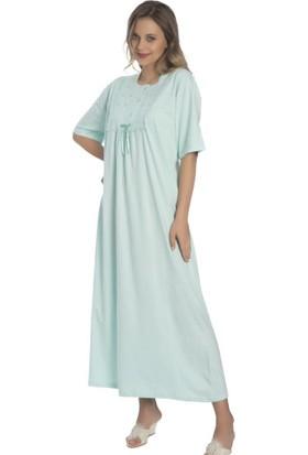 Akala Akala-Dy Pamuklu Kısa Kol Penye Kadın Gecelik 9006