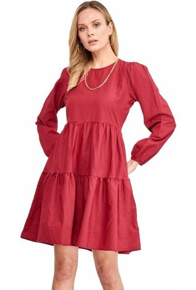 Şamdan Kadın 3318 Vişne Elbise
