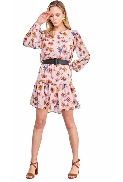 Şamdan Kadın 3203 Pudra Elbise