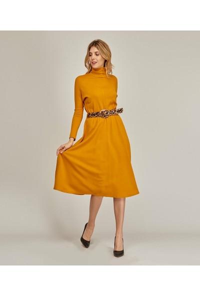 Şamdan Kadın Hardal Elbise