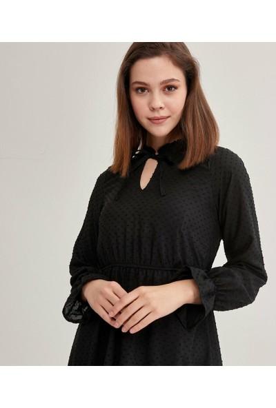 Şamdan Kadın 9110 Siyah Elbise
