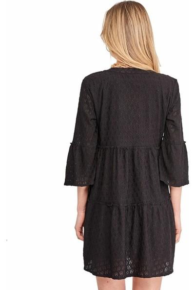Şamdan Kadın 3307 Siyah Elbise
