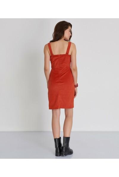 Şamdan Kadın Kiremit Jile Elbise