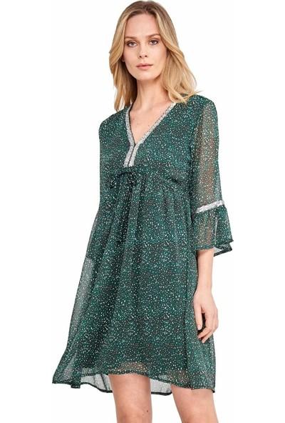 Şamdan Kadın 3303 Yeşil Elbise