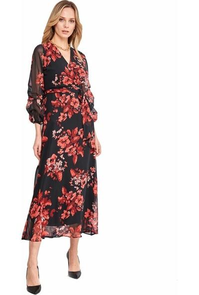 Şamdan Kadın 3298 Siyah Elbise