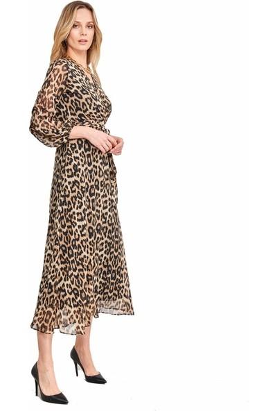 Şamdan Kadın 3298 Leopar Elbise
