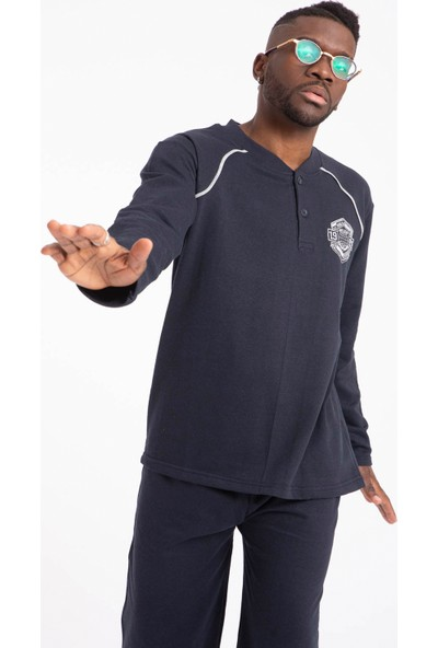 Tampap Erkek Pijama Takımı Kışlık Kalın Içi Peluşlu Tampap 915