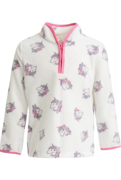 DeFacto Kız Çocuk Unicorn Baskılı Polar Sweatshirt