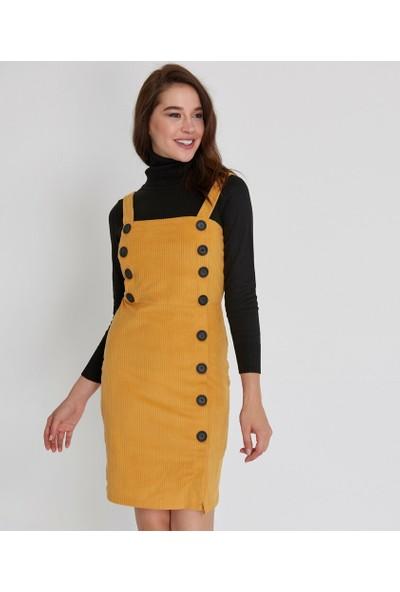 Şamdan Kadın Vizon Jile Elbise